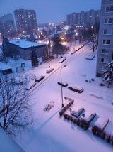 Sníh v České Lípě, 8. února 2021.