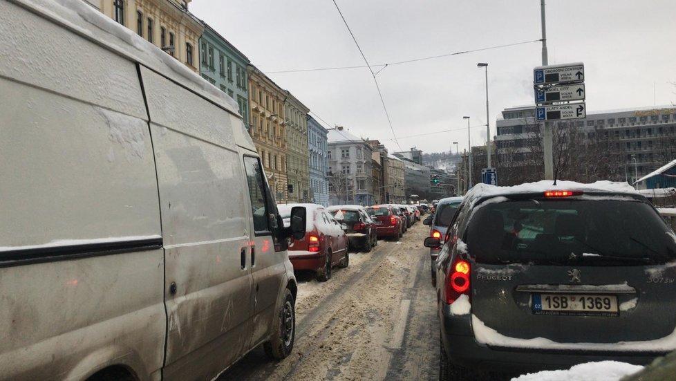 Kolony v Praze, 8. února 2021.