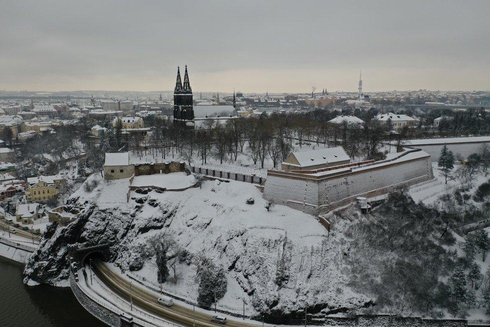 Sníh v Praze, 8. února 2021.