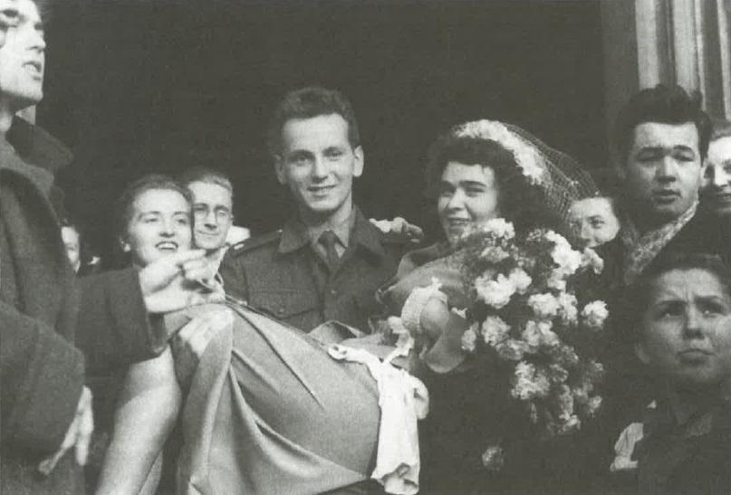 Jiřina Bohdalová na svatbě s Břetislavem Stašem