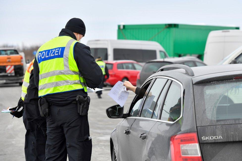 Policejní kontroly na hranicích Německa a Česka