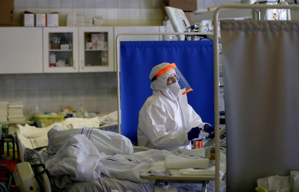 Koronavirus v nemocnici v Náchodě (20. 2. 2021)