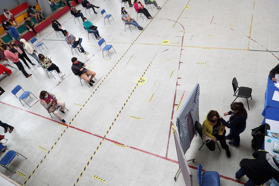 Koronavirus v Jižní Americe: Očkovací centra v Chile (22.2.2021)