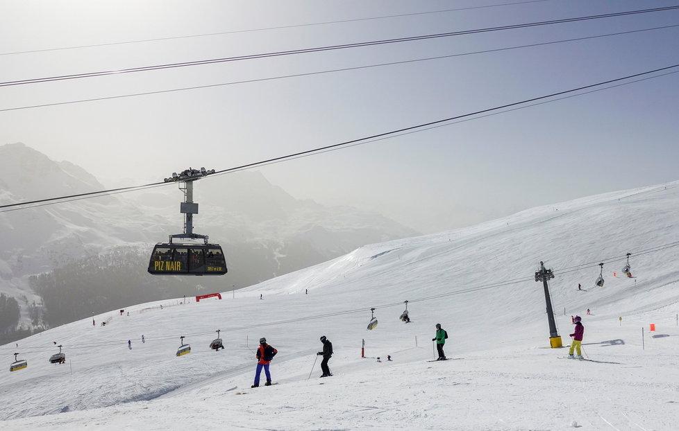 Otevřená lyžařská střediska ve Švýcarsku (23.2.2021)