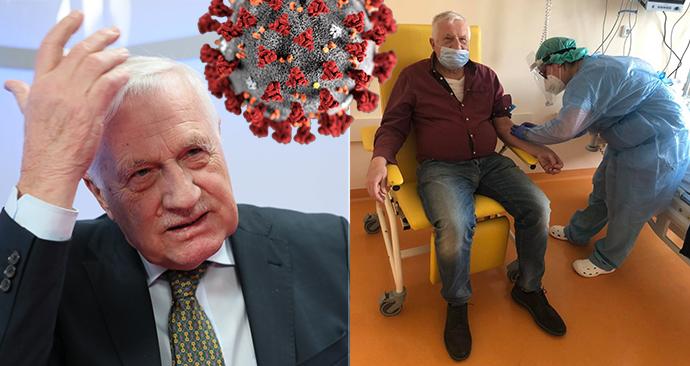 Bývalý prezident Václav Klaus koronavirus prodělal.