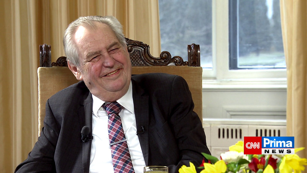 Prezident Miloš Zeman vystoupil v pořadu Partie na CNN Prima News (28.2.2021)