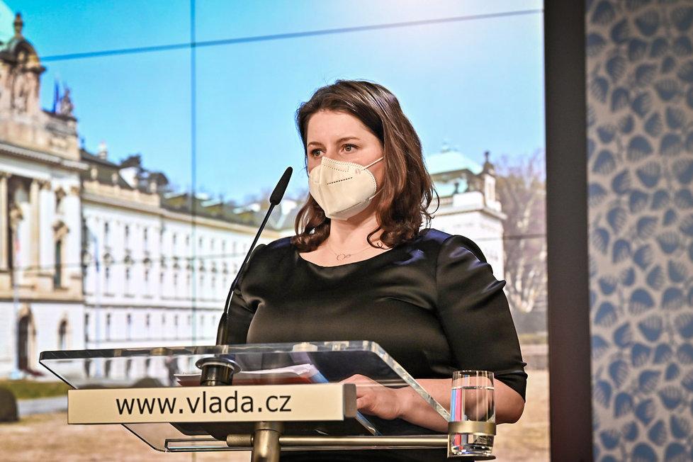 Jednání vlády: Jana Maláčová (1.3.2021)