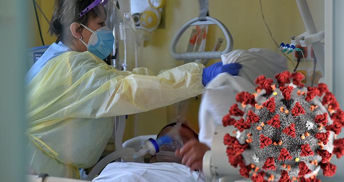 Boj s koronavirem v přetížené sokolovské nemocnici (2. 3. 2021) (ilustrační foto)