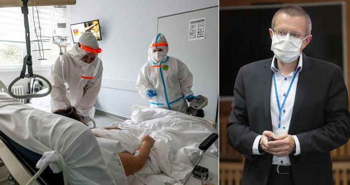 Počet hospitalizovaných s covidem na 3000 klesne v dubnu, klesat začne již příští týden, míní Dušek.