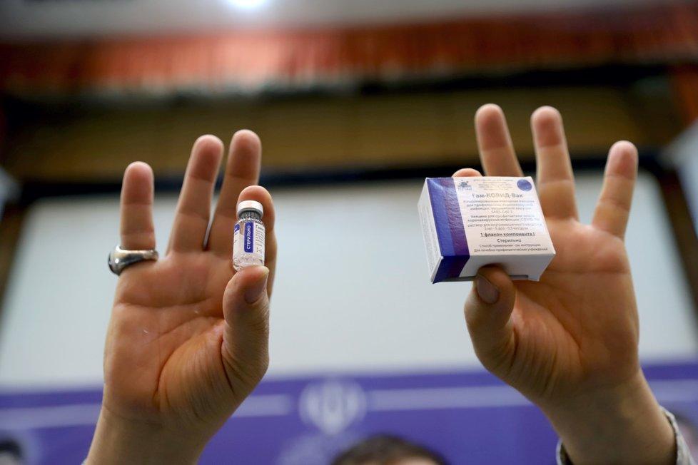 Začátek očkování ruskou vakcínou Sputnik V v Íránu (9. 2. 2021)