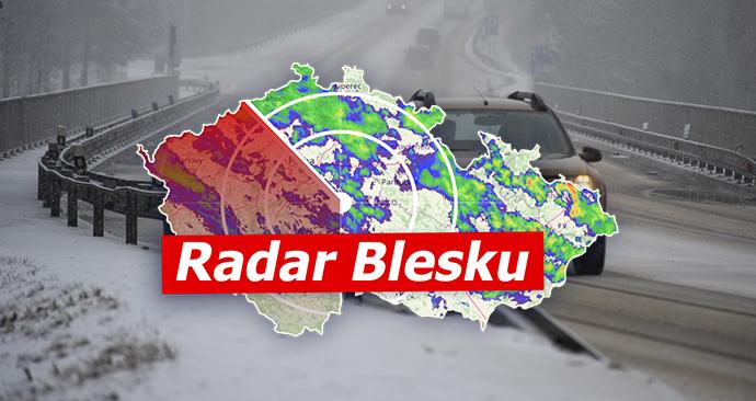 Na řadě míst Česka opět padá sníh, jaro se opět ohlásí v pátek