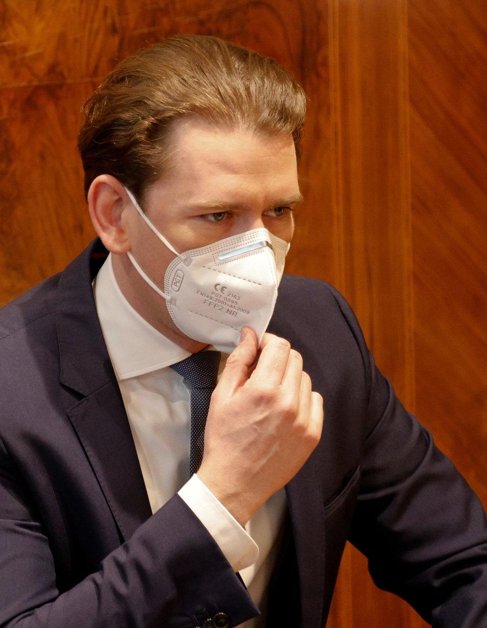 Rakouský kancléř Sebastian Kurz.