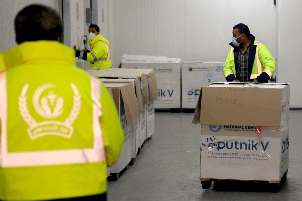 Dodávka ruské vakcíny Sputnik V do Libye