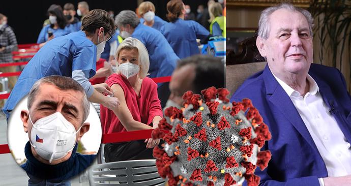 Prezident Miloš Zeman očekává konec pandemie v září, uvedl pro Blesk.cz. Premiér Andrej Babiš (ANO) očekává každoroční očkování.