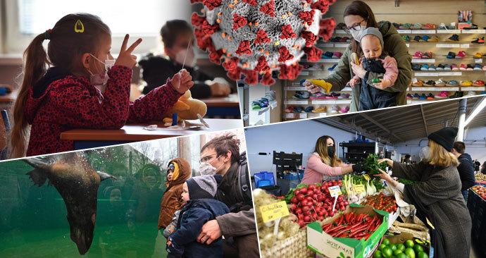 Rozvolnění v Česku: Otevřené školy, obchody z dětským oblečením i obuví, farmářské trhy i zoo (12. 4. 2021)