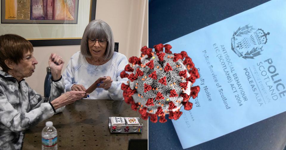 Důchodci dostali pokutu za narozeninovou oslavu. Maureen (82) nechápe proč, když jsou očkovaní, (ilustrační foto).
