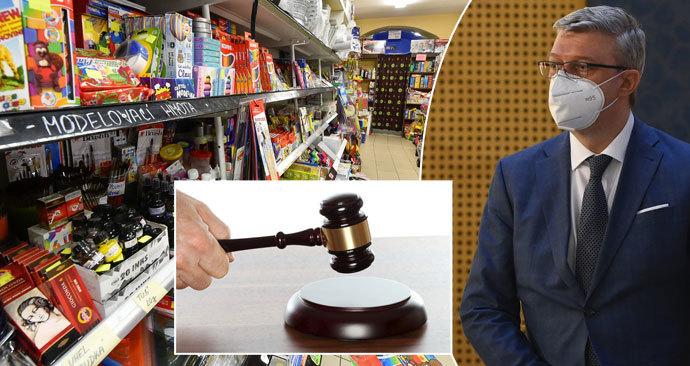 Soud zrušil uzavření obchodů a služeb. Vláda má čtyři dny na úpravu.