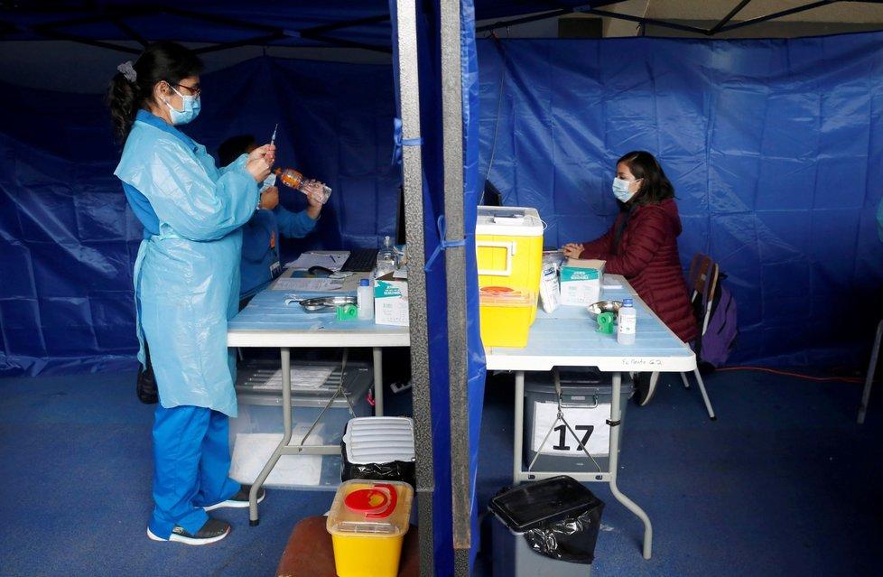 Očkování proti koronaviru v Chile