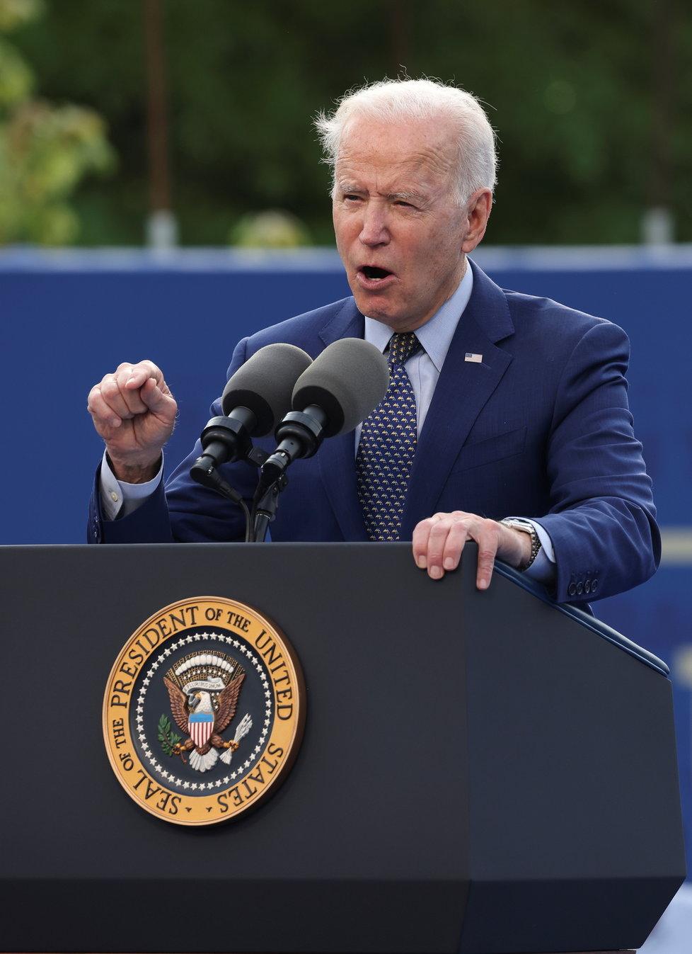 Prezident USA Joe Biden s manželkou Jill.