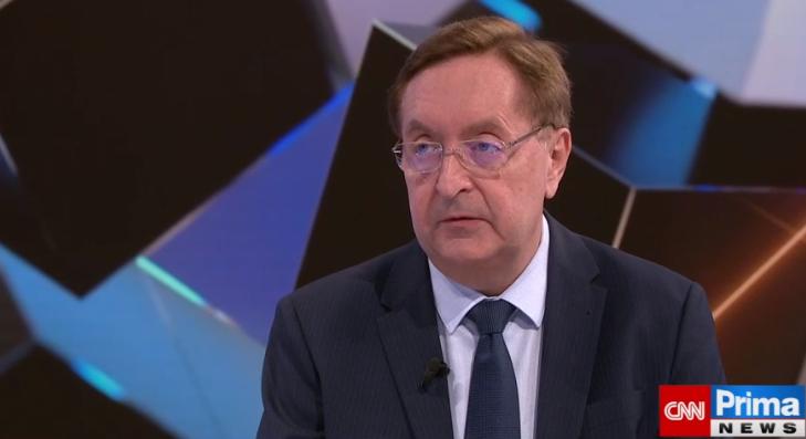Ministr zdravotnictví Petr Arenberger (za ANO) v pořadu Partie na televizi Prima
