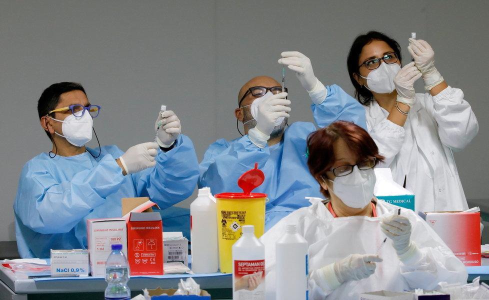 Očkování proti koronaviru v Itálii.