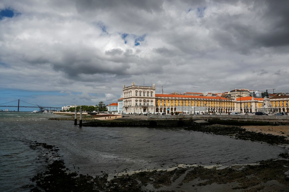Lisabon v době pandemie koronaviru.