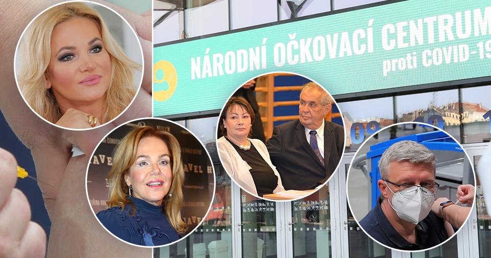 Monika Babišová čeká na termín očkování, Ivana Zemanová už má jednu vakcínu v sobě. Havlová se nechala očkovat nerada.