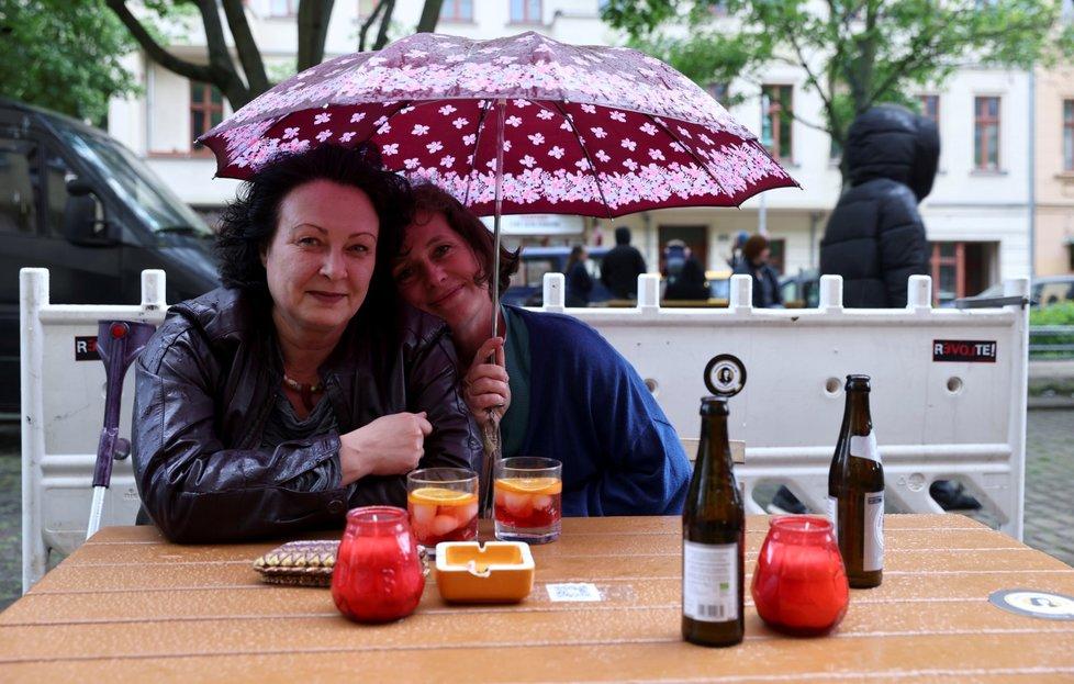 Rozvolňování proticovidových opatření v německém Berlíně (21. 5. 2021)