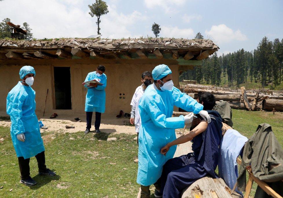 Očkování proti koronaviru v Indii