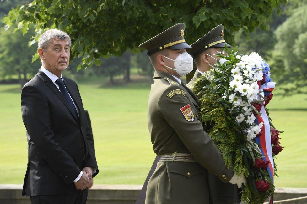 Pietní akt u příležitosti 79. výročí od vyhlazení Lidic (12. 6. 2021): Premiér Andrej Babiš (ANO)