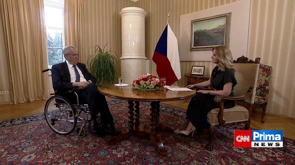 Prezident Miloš Zeman v Partii Terezie Tománkové. (27.6.2021).