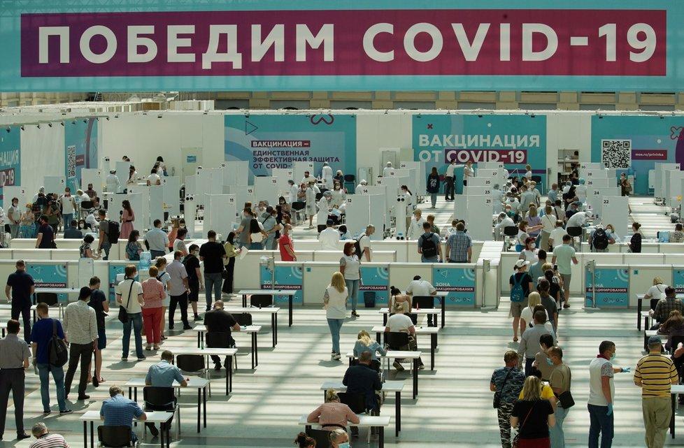 Očkování proti covidu-19 v Moskvě