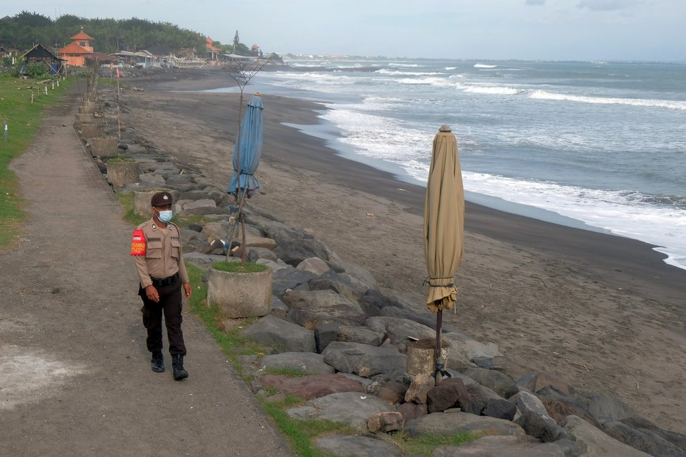 Bali v době pandemie koronaviru.