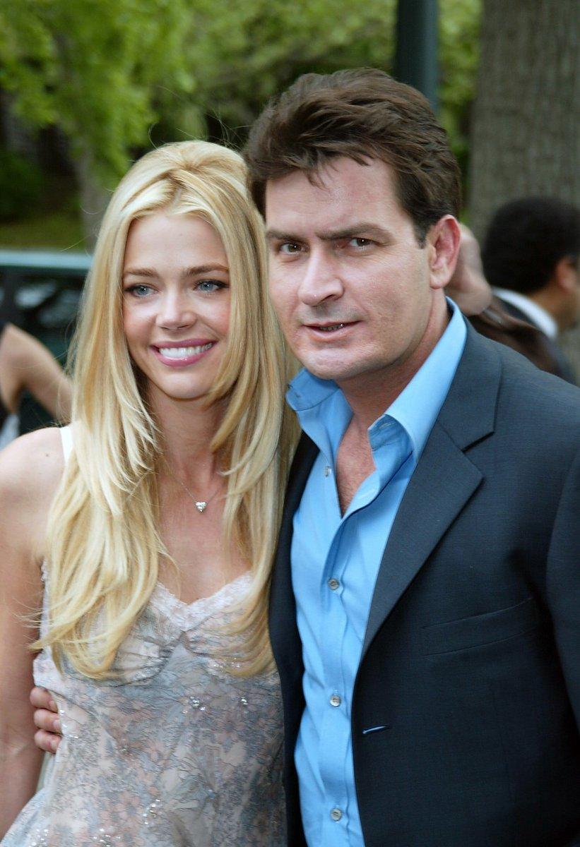 Denise s bývalým manželem Charliem Sheenem