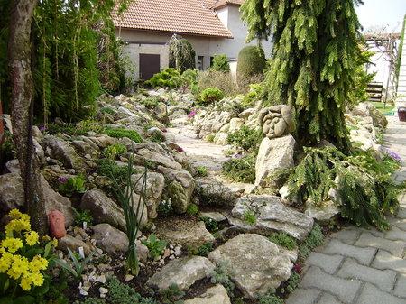 Při komponování skalky se snažte napodobit vysokohorskou přírodu