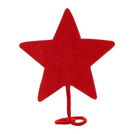 Na vrchol stromku patří hvězda - letos by měla být červená