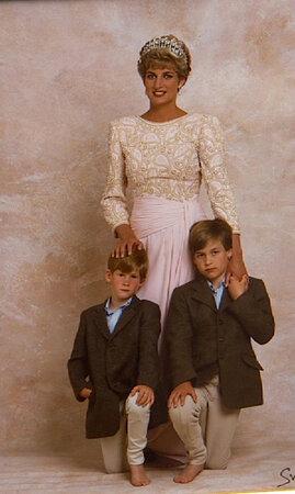 Princezna z Walesu se svými dvěma syny