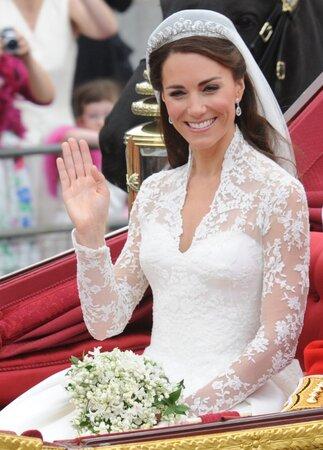 Kate v den svatby