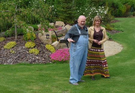 Ota Jirák je na svou zahradu náležitě pyšný