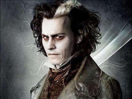 Johnny Depp ve filmu Sweeney Todd:Ďábelský holič z Fleet Street