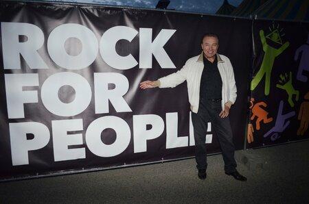 Karel Gott na festivalu Rock For People.