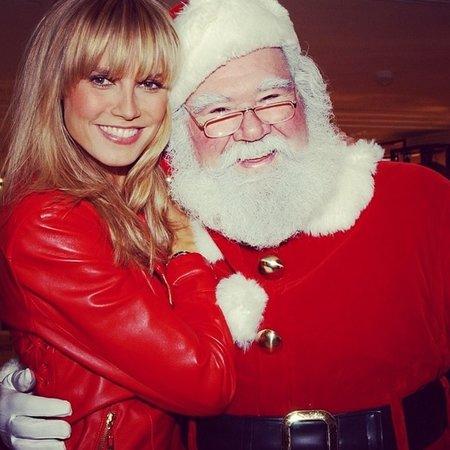 Heidi Klum si vánoční svátky užívá po svém