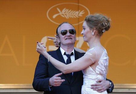 Quentin Tarantino a Uma Thurman se k sobě na festivalu v Cannes neobyčejně měli.