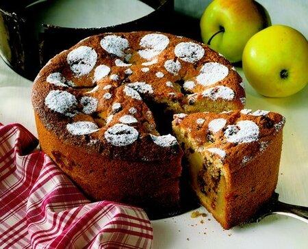 Jablečný koláč se skořicí a vanilkou