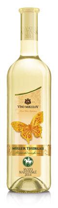 Nejvíce Svatomartinských vín je odrůda Műller Thurgau.