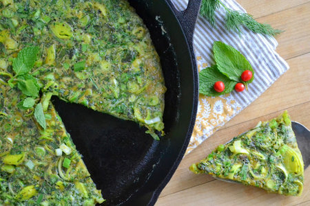 Perská bylinková omeleta