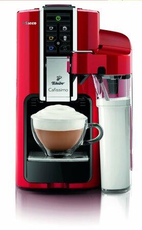 Automatický kapslový kávovar Cafissimo Latte stačí stisknout tlačítko  a máte cappuccino nebo latte macchiato s čerstvě napěněným mlékem. Tchiob.cz, 5555 Kč