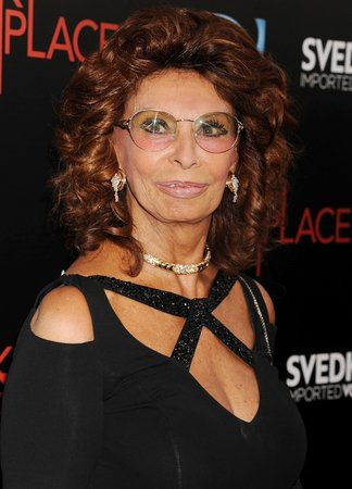 Sophia Loren na premiéře