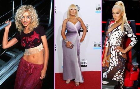 Christina na začátku své kariéry v roce 2000, 2012 a nyní.