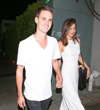 Miranda se svým současným přítelem Evanem Spiegelem.